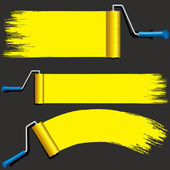 Isolated Yellow Paint Rollers. Illustration — Stock Photo