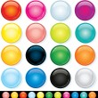 Buttons, Icons Template, Multicolored Elements — Stock Photo
