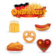 Oktoberfest Food and Drink Icons. — Stock Photo #27737333