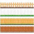 Wooden Fence Collection — Stock Photo
