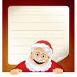 Santa Sign. Blank Paper Sign, Santa Claus. — Stock Photo