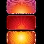 Set of Brightly Lit Neon Billboards — Stock Photo
