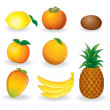 Cartoon Fruits — Stock Photo