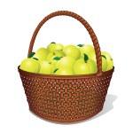 Juicy Sweet Apples in Basket — Stock Photo #27737707