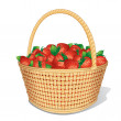 Ripe Strawberries in Basket. — Stock Photo