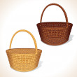 Isolated Woven Baskets — Stock Photo
