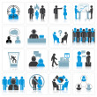 Office Business Icons. Management and Relationship — Foto Stock