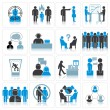 Office Business Icons. Management and Relationship — Stock Photo