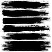 Set of Black Grunge Banners — Stock Photo