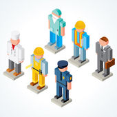 3D Occupations Icons — Stock Photo