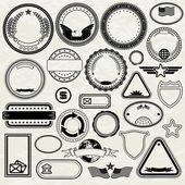 Set of Various Stamp Design. Blank Templates — Stock Photo
