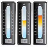 Thermometers with Celsius and Fahrenheit Scales — Stock Photo