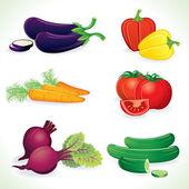 Ripe Vegetable. Icon Set — Stock Photo