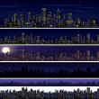City Skyline. Collection of Night City Images — Stock Photo