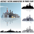 Stock Photo: Industrial Factory, Manufacture or Power Plant.