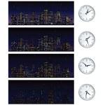Night Time Skyline. Set of Illustrations — Stock Photo