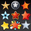 Star Shaped Icons, Buttons, Logos, Design Elements — Stock Photo