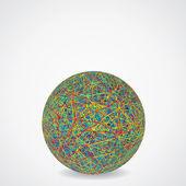 Topu kaotik çok renkli kablolar. — Stok fotoğraf