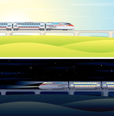 High Speed Train Pictures. Illustration — Stock Photo