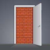 插图。没有或没有办法出去的门 — 图库照片