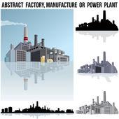 Fabryka przemysłu, produkcji lub elektrowni. — Zdjęcie stockowe