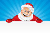 Cartoon Santa Claus with Sign — Stock Photo