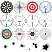 Conjunto de mira detallada y objetivos — Foto de Stock
