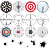 Set di mirini dettagliati e obiettivi — Foto Stock