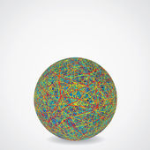 Top kaotik çok renkli kablolar gibi. vektör — Stok Vektör