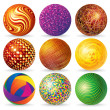 abstract 3d sphere logos — Stock Photo