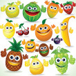 Funny Cartoon Fruits. Colorful Clip art — Stock Photo