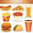 Fast Food Icons. — Stock fotografie