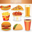 Stock Photo: Fast Food Icons.