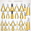 Pliers. Collection of Fastening Tools. Icon — Stock Photo #31044889