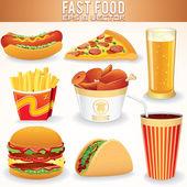 Fast-food-symbole. — Stockfoto