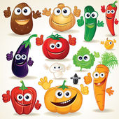 Funny Cartoon Vegetables Clip Art — Стоковое фото