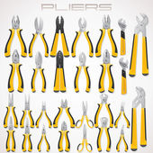 Pliers. Collection of Fastening Tools. Icon — Stok fotoğraf