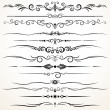 Ornamental Rule Lines in Different Design — Stock Photo