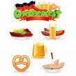 Oktoberfest Food and Drink Icons. — Foto Stock