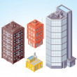 Isometric Buildings #1 — Stock Photo
