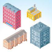 Isometric Buildings #2 — Stock Photo