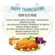Stock vektor: Thanksgiving Background