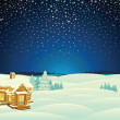 Winter Landscape. Cartoon Illustration — Stockfoto