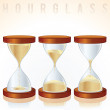 Stock Photo: Hourglass. Three Different States.