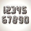 Numbers Made from Old Cracked Stone — Stock Photo