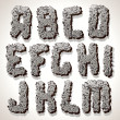 Alphabet Letter Made from Old Cracked Stone — Stock Photo