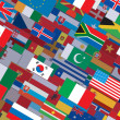 Stock Photo: Horizontal Flags Background