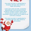 Vettoriale Stock : Christmas Background with Funny Santa. Vector