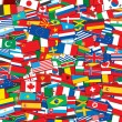 World Flags Background. EPS10 Vector Template — Imagens vectoriais em stock