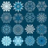 Decorative Snowflakes Vector Set. — Stock Vector